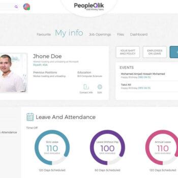 PeopleQlik Dashboard HR Payroll Software Performance Software Attendance Software